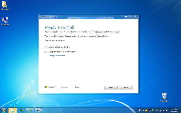upgrade from windows 7 to 10 final set up 2 768x768