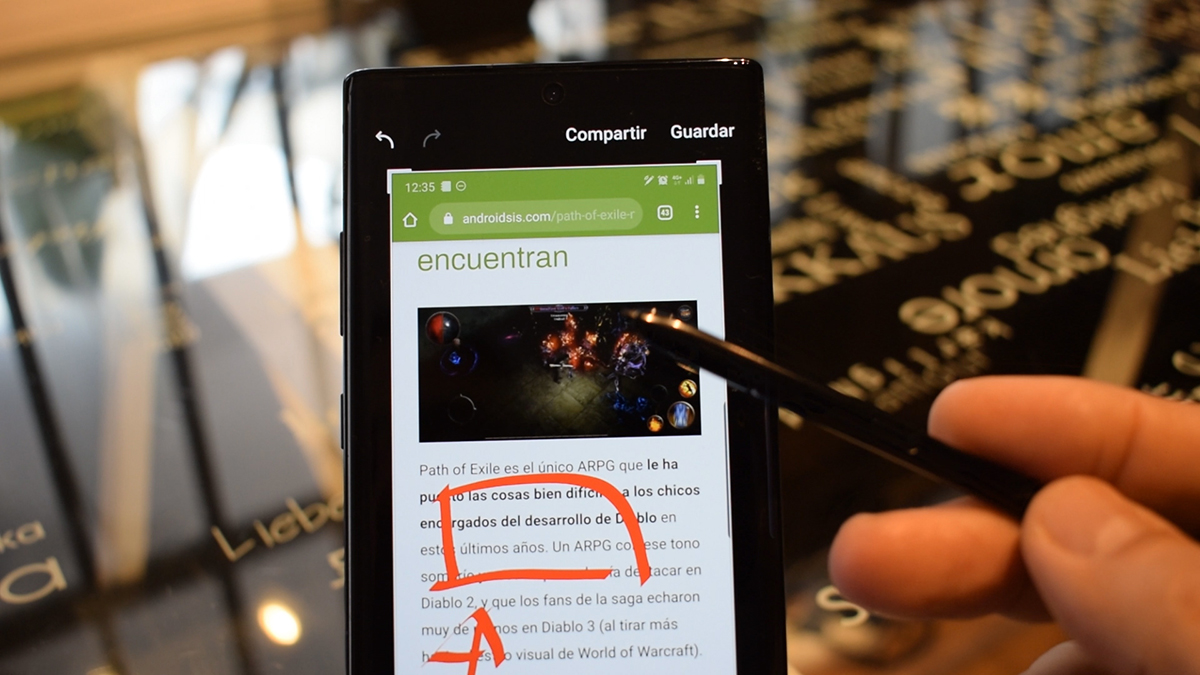 Take notes on the screen of the Galaxy Note 10