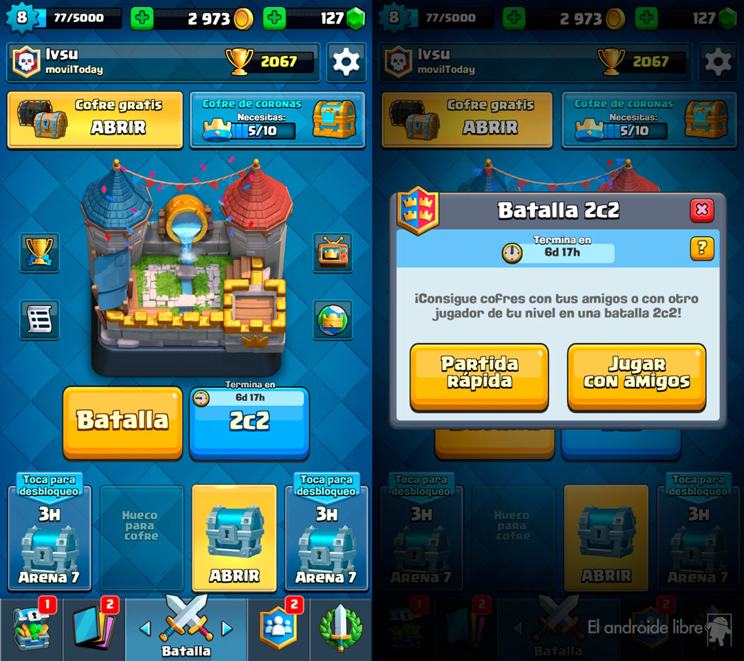 Clash Royale receives one of its biggest updates with new 2c2 mode