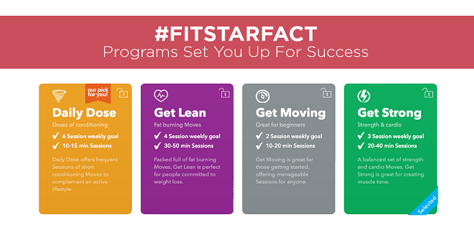 fitstar app screen