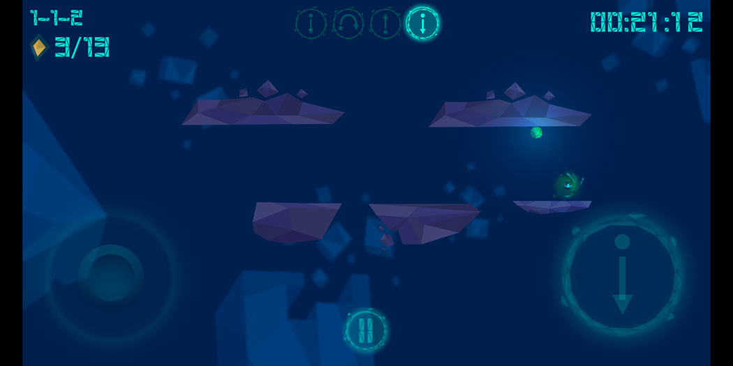 Control gravity in Gravity Ball, a great puzzle game