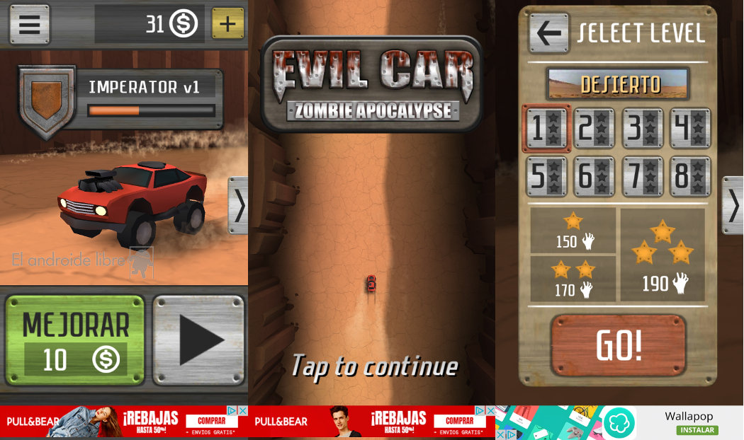 Go through hordes of zombies with your car in Evil Car: Zombie Apocalypse