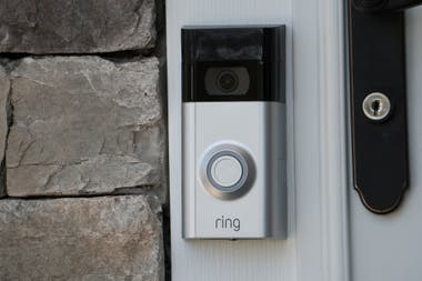 One of the Ring camera models, which let you know who rings the bell from anywhere in the world