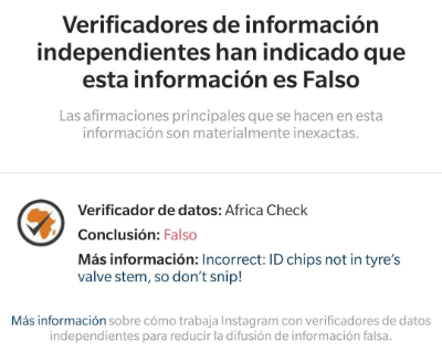 Image - Instagram now indicates if information is false