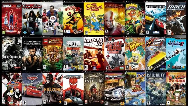 PSP game library