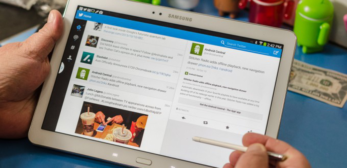 Tablet Galaxy Note Twitter