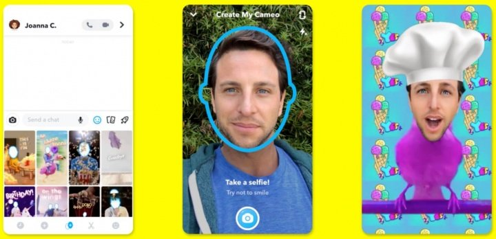 Image - Snapchat Cameo will allow you to add your face to a GIF