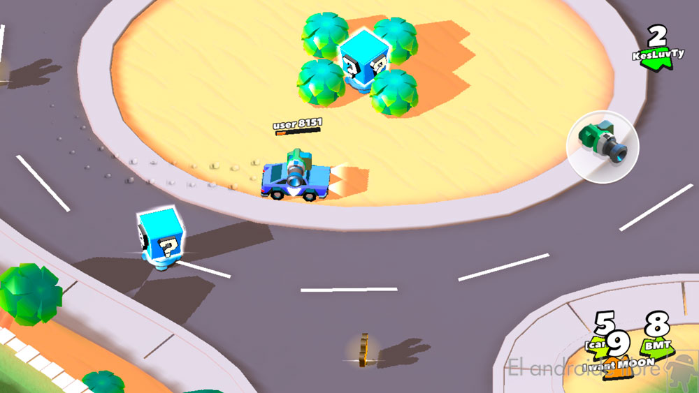 A game that reminds the battle mode of Mario Kart