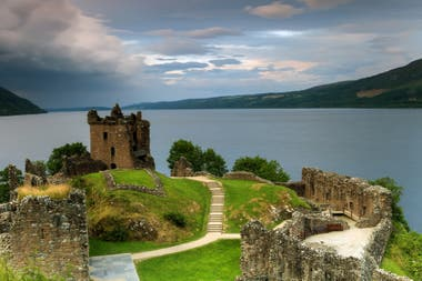 Loch Ness and its castle in Scotland