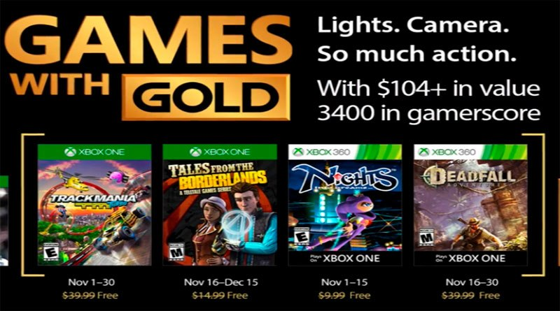 These are the November Games With Gold