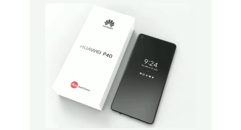 Render of the Huawei P40 Pro