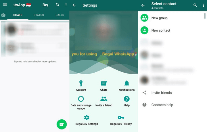 Image - WhatsApp Begal, the unofficial app in the style of WhatsApp Plus