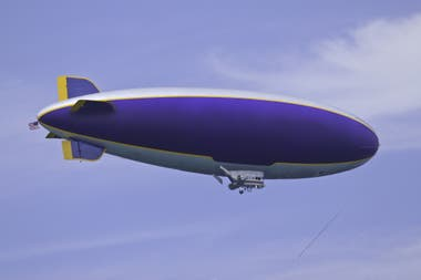 Current airships are used mainly for advertising purposes