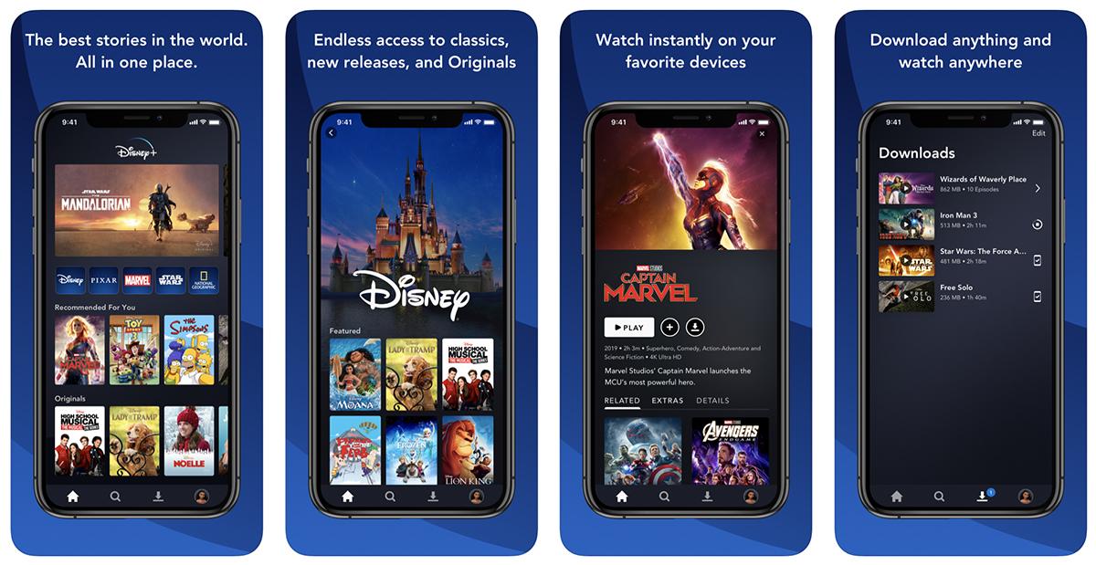Disney + iPhone