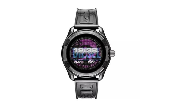 Diesel smart watch on white background