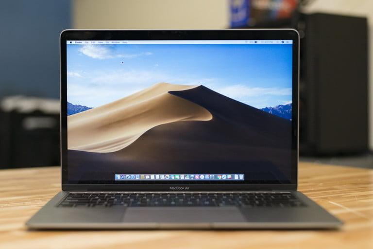 MacBook Air on desktop