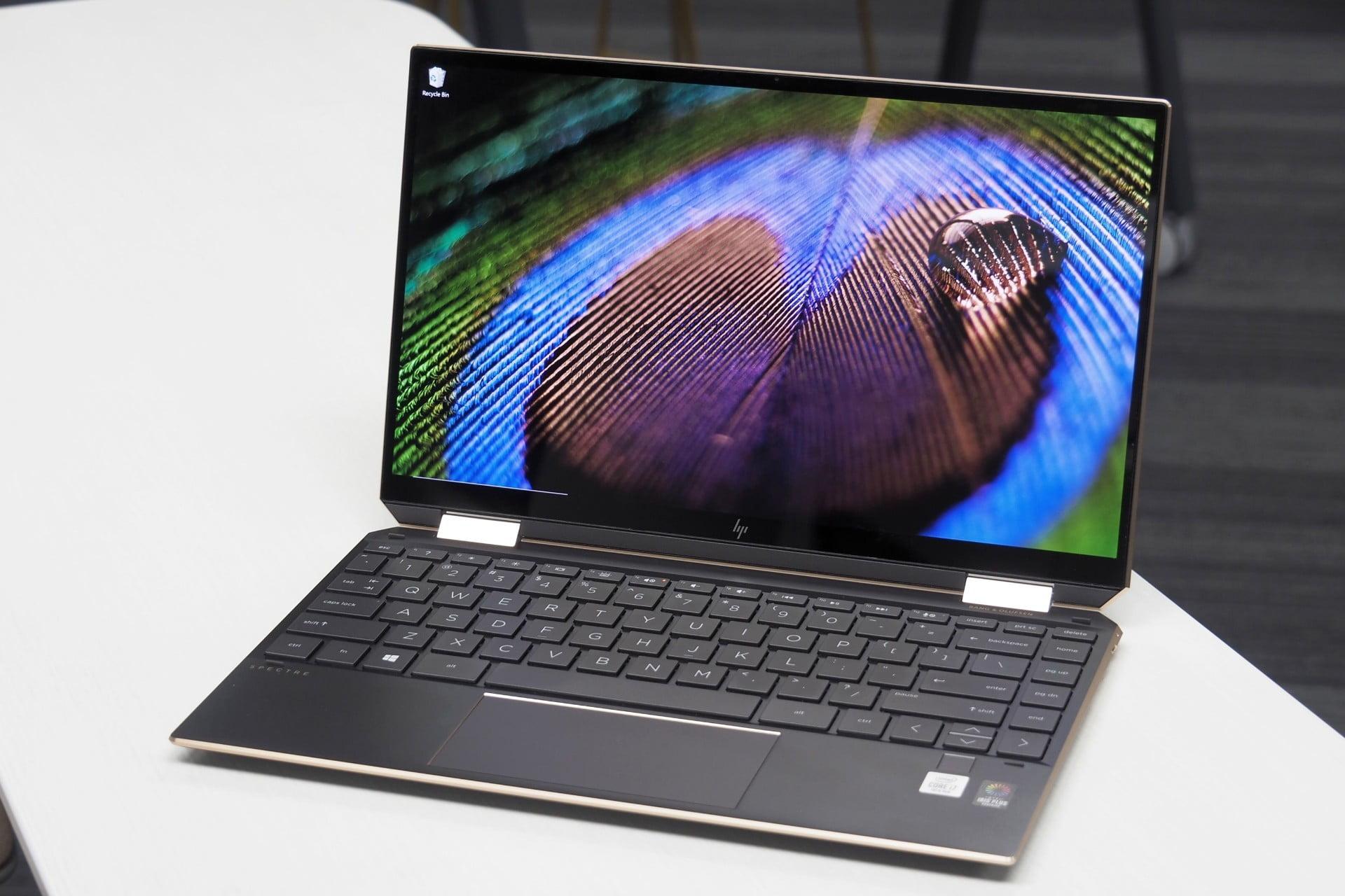 HP Specter x360 notebook open