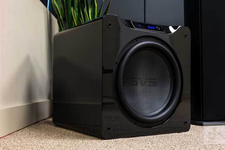subwoofer on the floor
