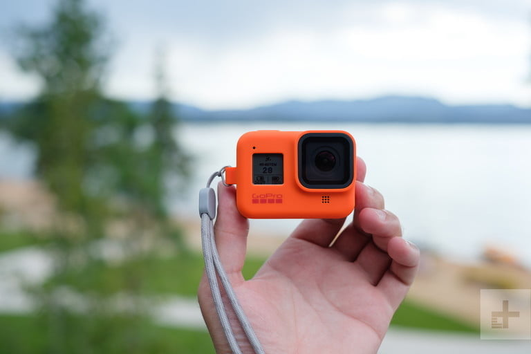 GoPro camera with image stabilizer