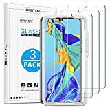 OMOTON Screen Protector for Huawei P30 Tempered Glass Huawei P30 Anti-peeling, Anti-scratch, Anti-Bubble, with Gua Frame (3 Pieces)