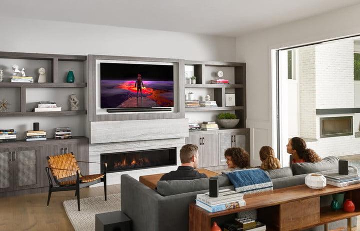 Vizio screen in the living room