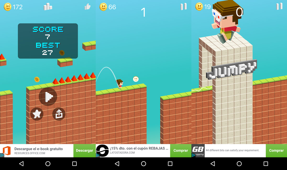 Half Super Mario Run, half Crossy Road: Jumpy