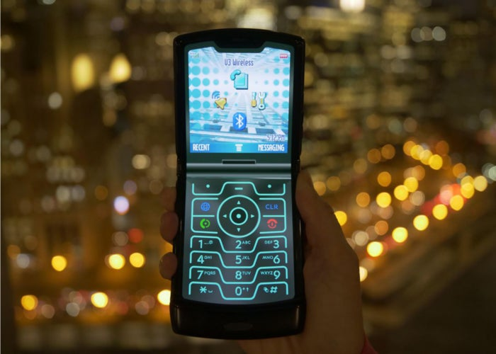 Motorola Razr retro mode