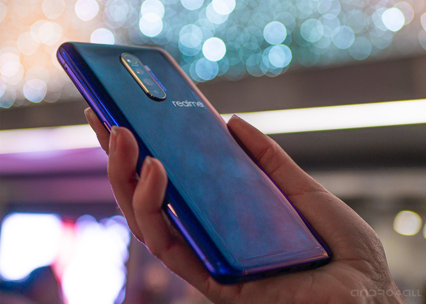 Realme X2 Pro in the hand, rear
