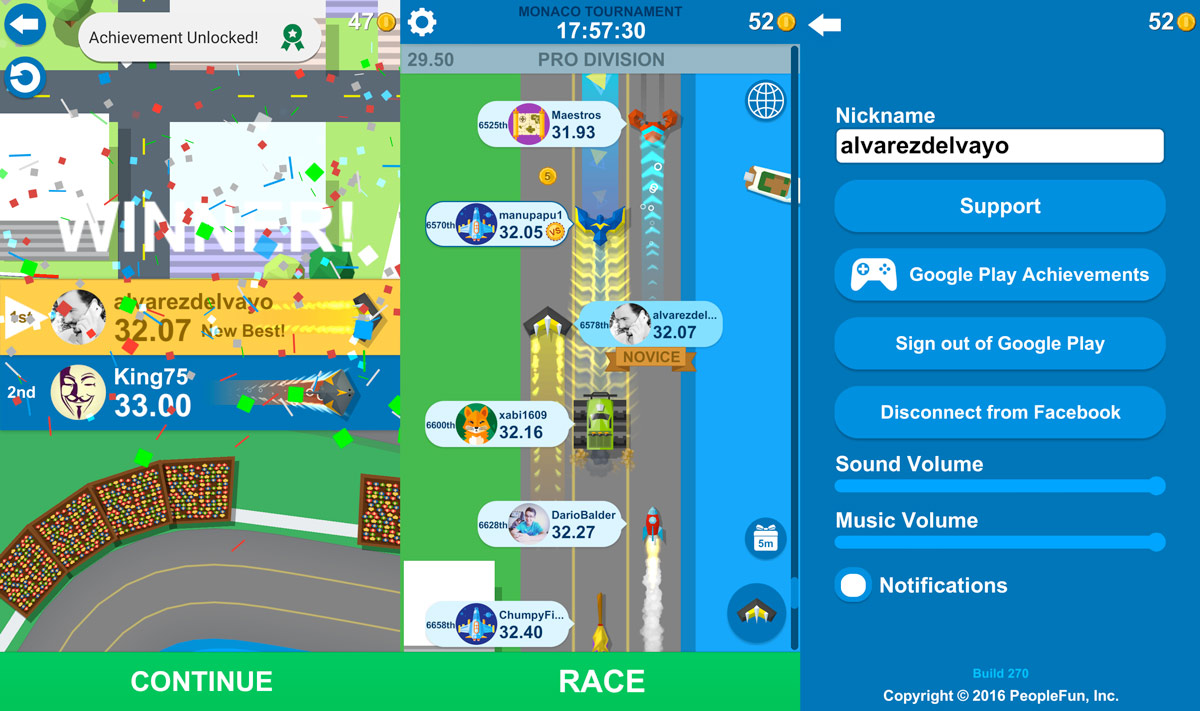 Fast and easy races in Race Time