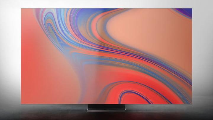 Close-up of the Samsung Q950TS 8K TV