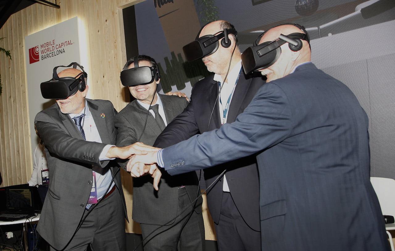 camp nou fc barcelona virtual reality fcbarcelona telefonica mwc2019 1