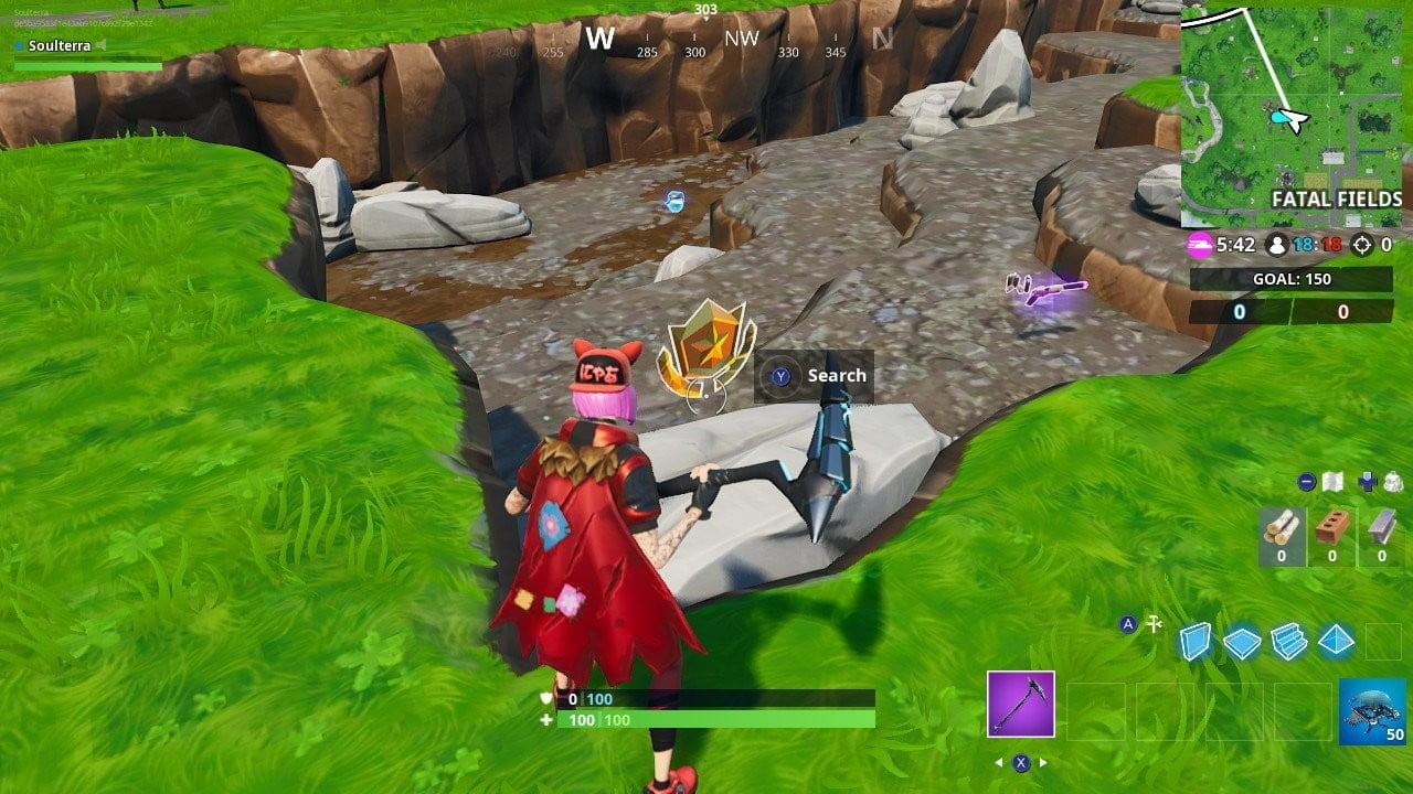 fortnite looks for the treasure map signal at 3
