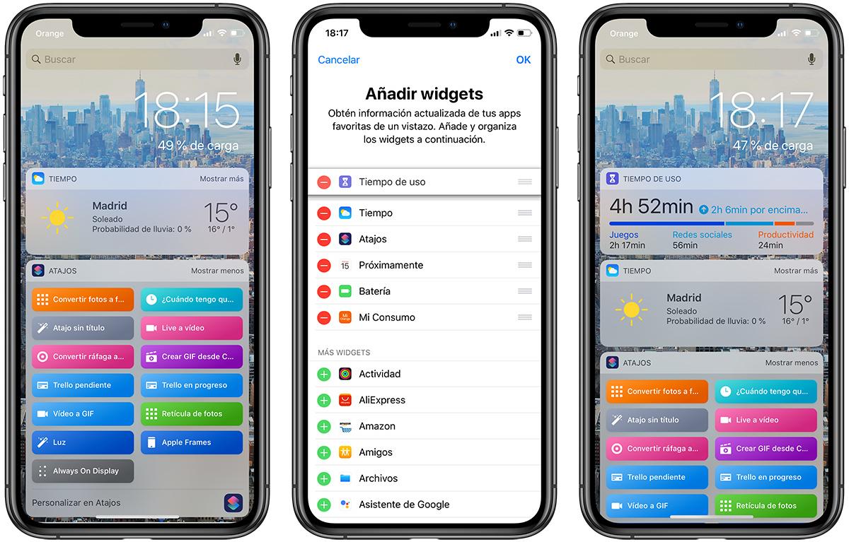weather widget use iPhone