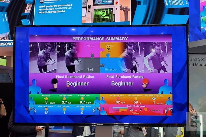 forpheus table tennis ces 2020 omrom statistics