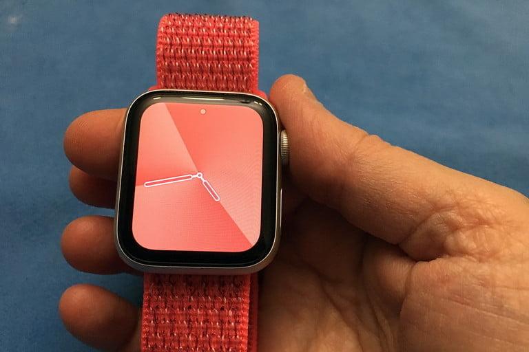 Apple Watch in hand