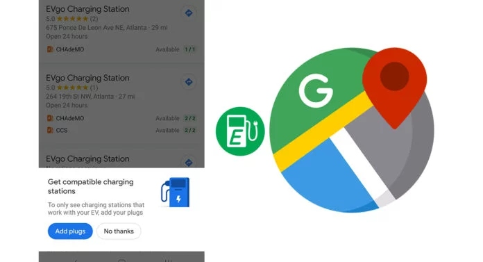 Google Maps and its new filter for electric cars