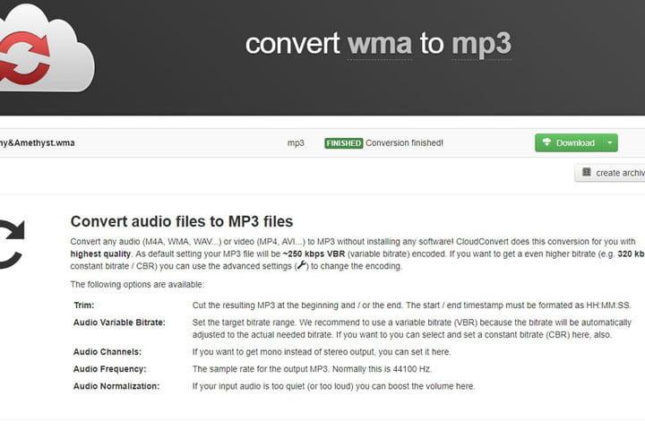 final cloudconvert conversion