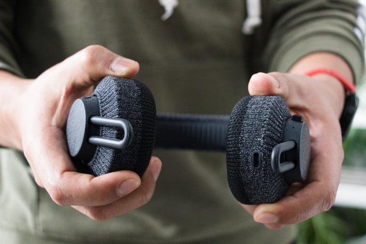 Detail of the Adidas RPT-01 wireless headphones