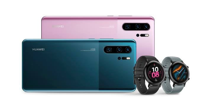 Huawei P30 Pro and Watch GT 2 watches