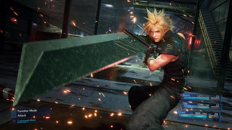 screenshot of the Final Fantasy VII Remake video game
