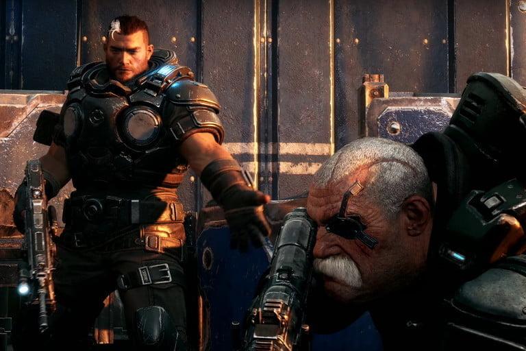 screenshot of the Gears Tactics video game