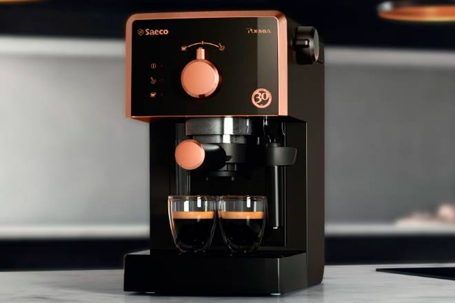 Special edition 30th Anniversary of the Saeco Poemia espresso machine