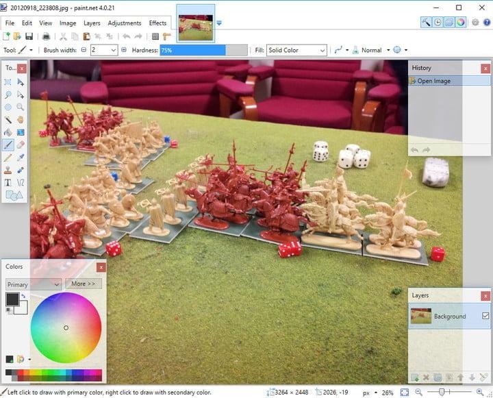 Screenshot of the Paint.Net program