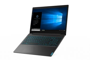 The Ideapad L340 has very low profile keys with a blue light backlight, ideal for night work and with an aspect that breaks the sobriety that characterizes this model