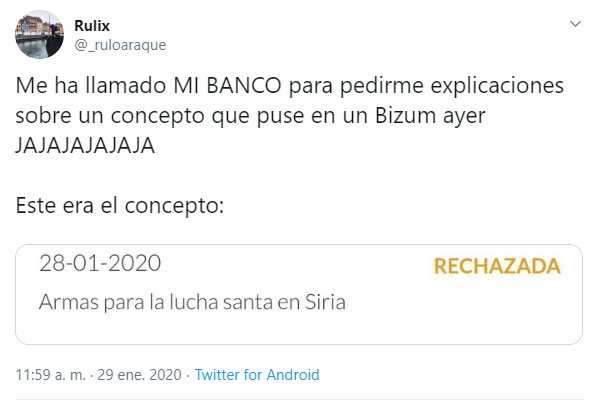 Image - A bank asks for explanations for the concept of a Bizum