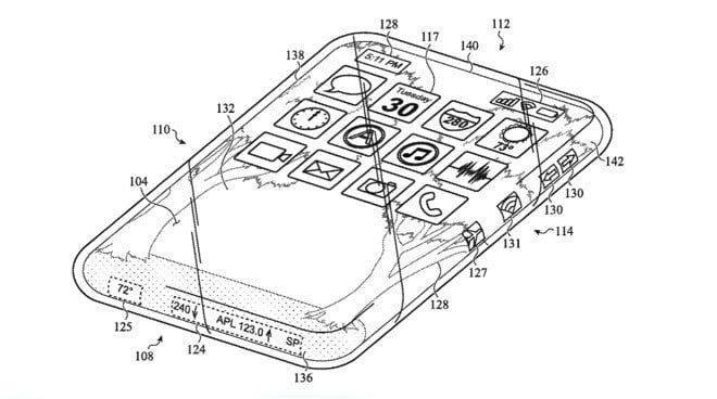 patent new iPhone completely glass