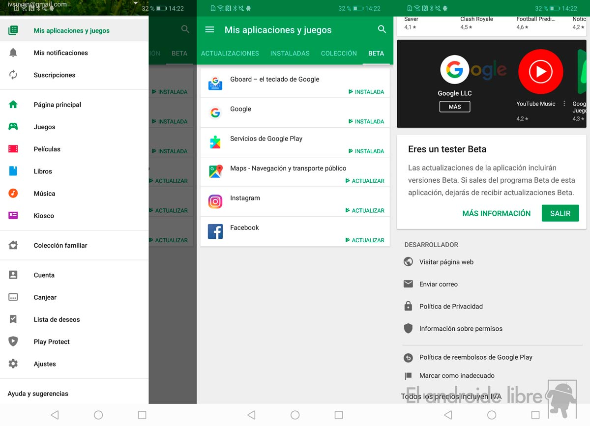 Discover which Google Play apps you subscribed as beta