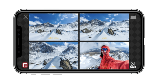 iPhone record 2 doubletake cameras
