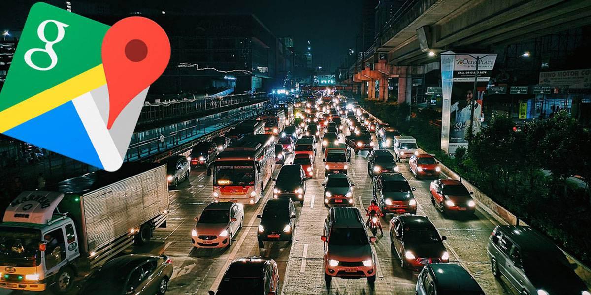 traffic jam google maps