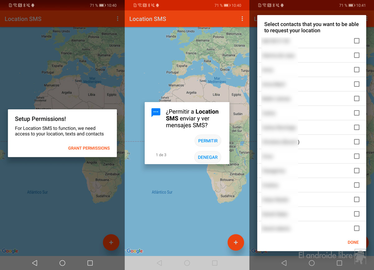 Locate an Android mobile with SMS thanks to this application
